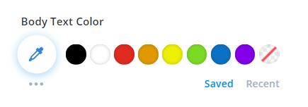colores en Divi antes de la nueva actualización