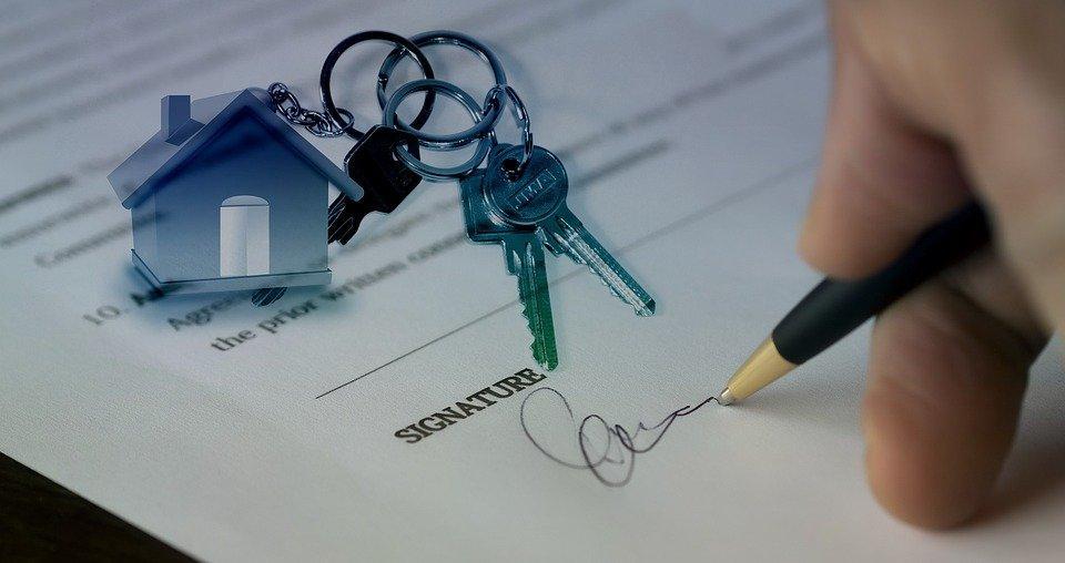 Venda, Vendida, Mão, Assinatura, Casa, Compra