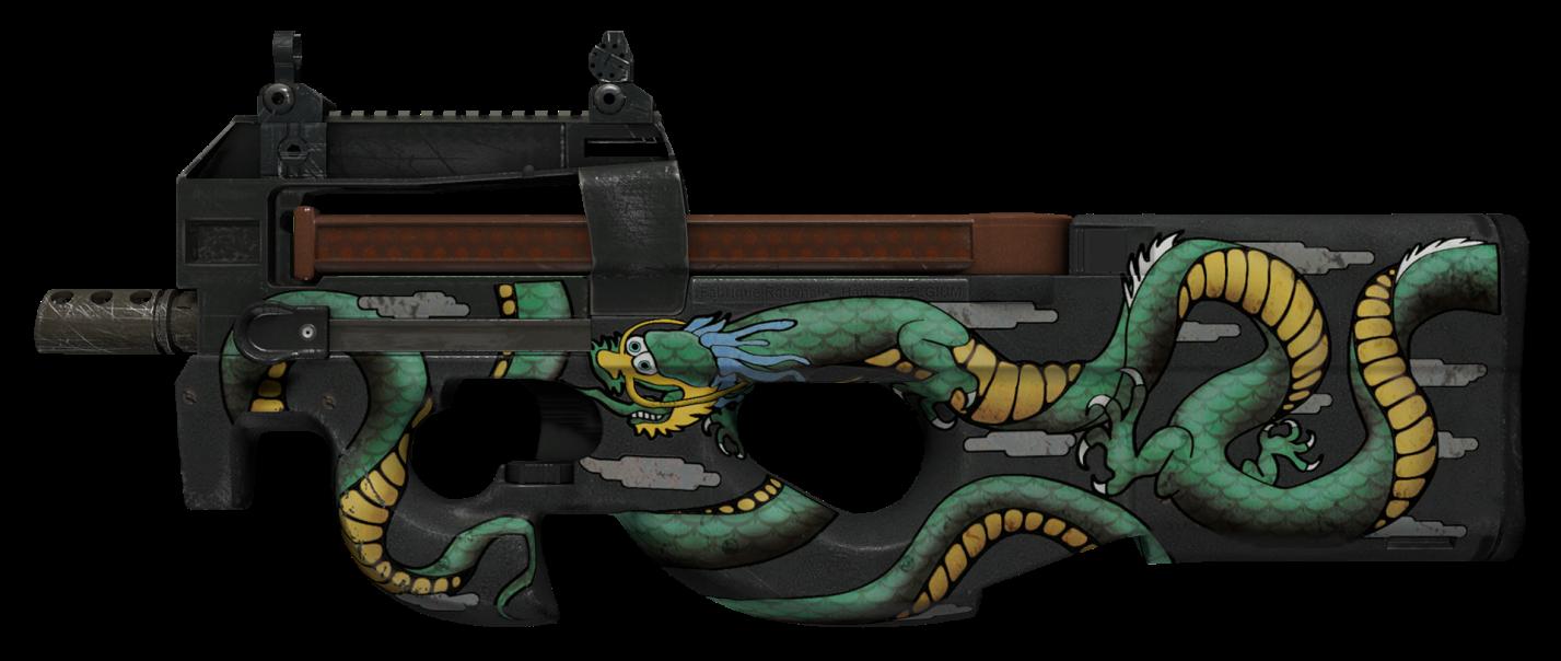 Р90 изумрудный дракон