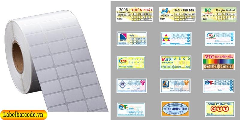 Decal tem vỡ dùng in tem bảo hành với đa dạng kích thước và mẫu mã