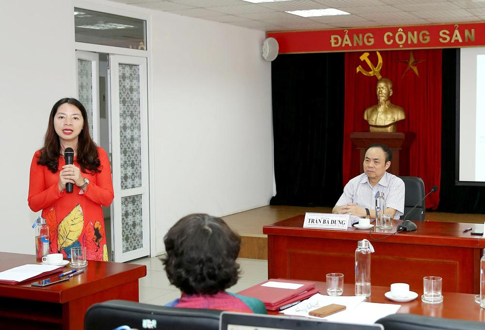 Bà Đặng Thị Thu Hương - Viện trưởng Viện Đào tạo Báo chí và Truyền thông. Ảnh: Sơn Hải