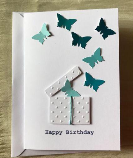 蝴蝶剪紙生日卡