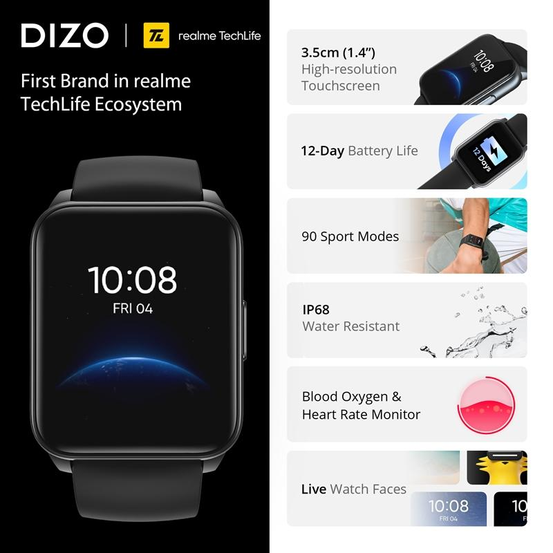DIZO เปิดตัว DIZO Watch สมาร์ทวอทช์ สไตล์สมาร์ท สปอร์ต ตอบโจทย์กีฬาที่ดีที่สุด พร้อมอายุแบตเตอร์รี่ยาวนาน