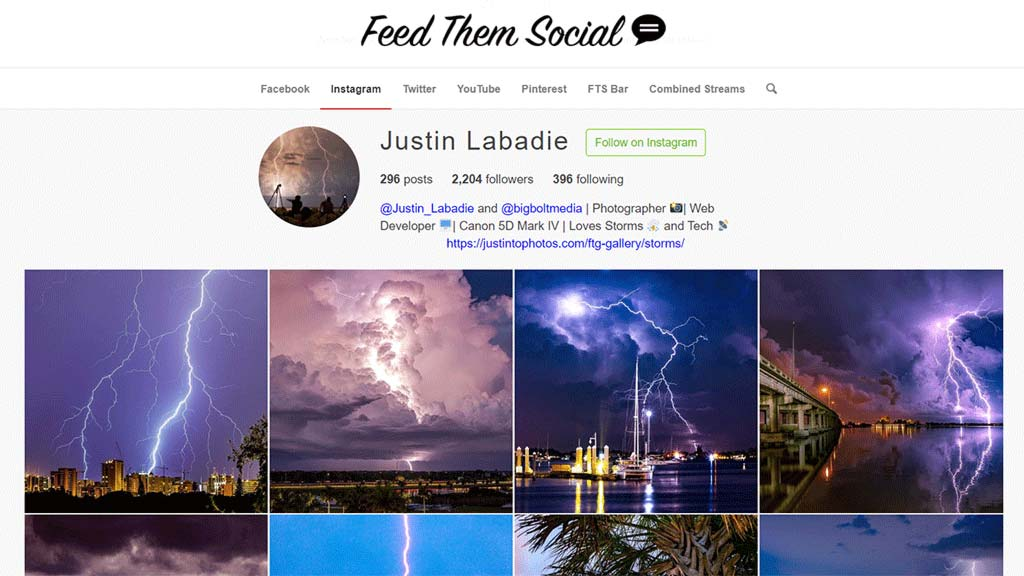 demonstracao do plugin para wordpress feed them social