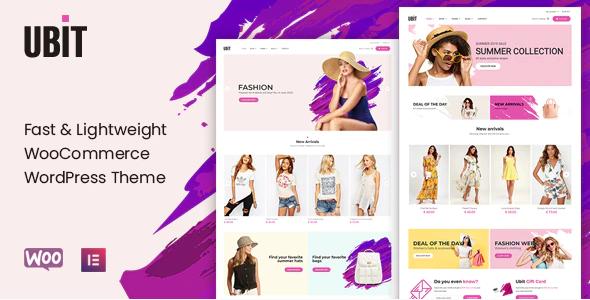 2. Ubit - Fashion Store WooCommerce Theme