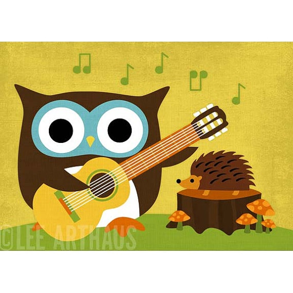 153B Bright Owl Playing Guitar