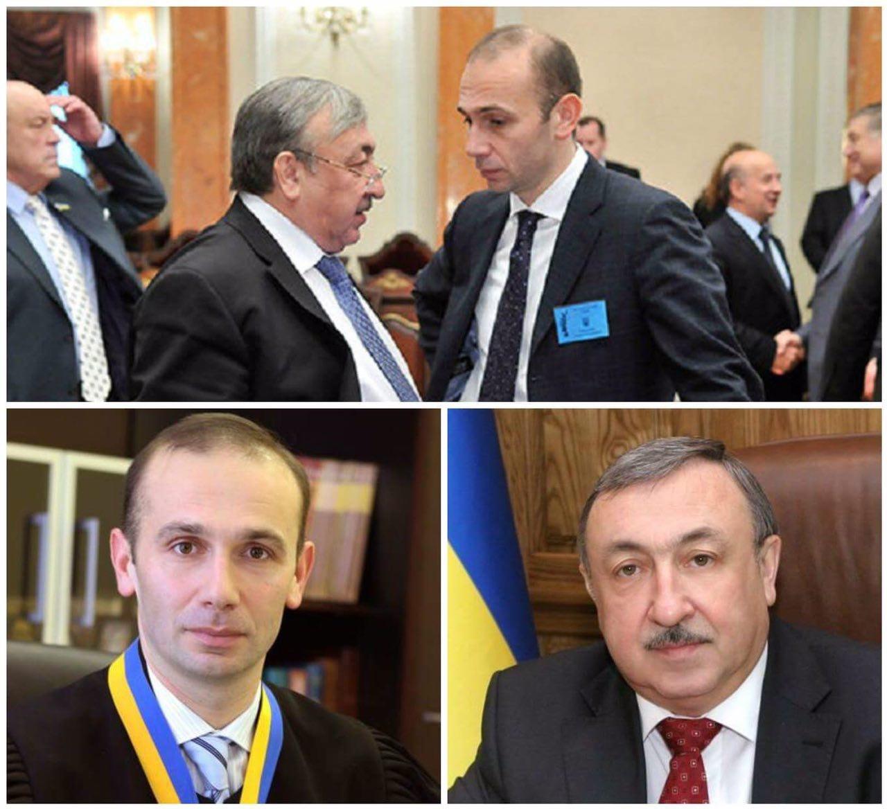 Судді ВГСУ Татьков та Ємельянов (колаж з оф. сторінки Facebook Юрія Луценко)