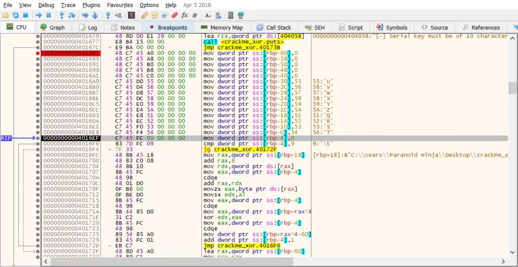 Kỹ thuật dịch ngược cho người mới bắt đầu - Mã hóa  XOR - Windows x64  - Ảnh 6.
