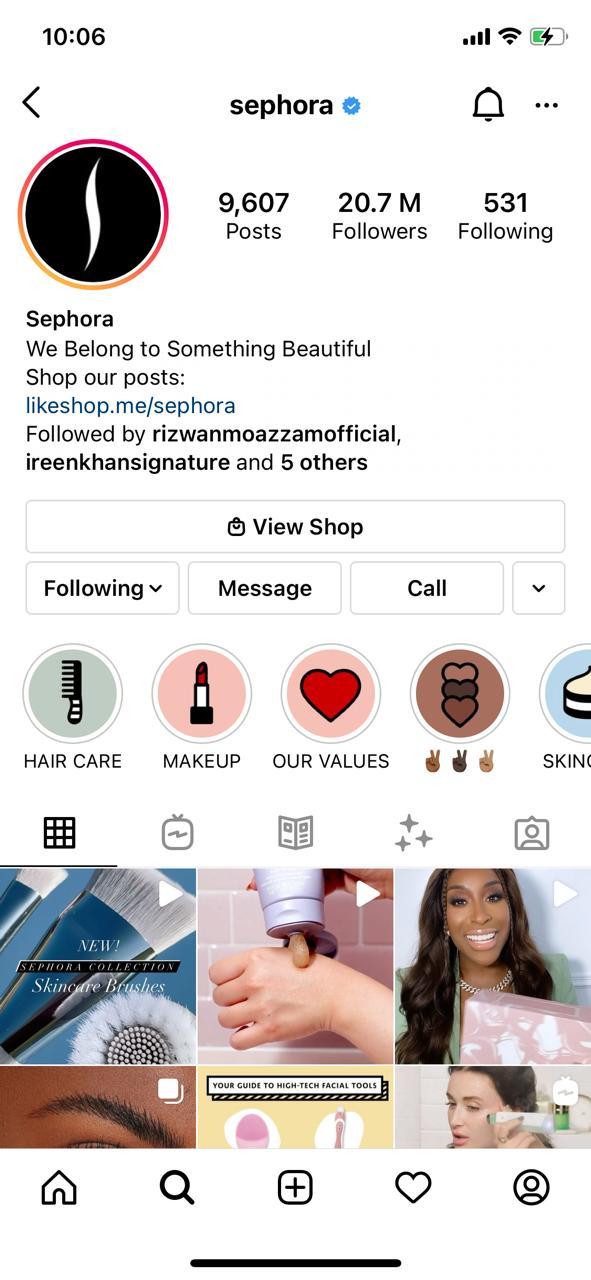 Sephora Instagram Chatbot