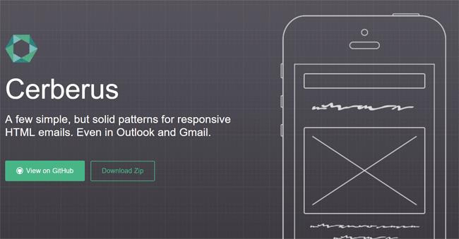 cerberus padrões de emails responsivos pré codificados