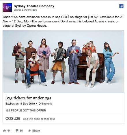 STC Facebook - FOMO ad example 1