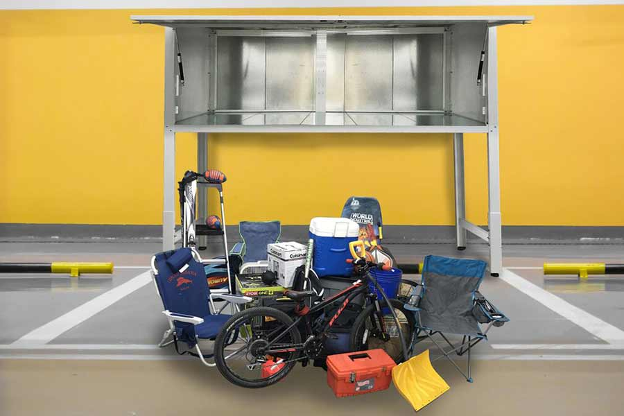 Ingenious Idea: Above Car Storage Units
