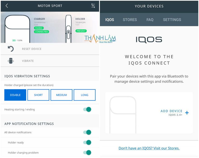 Cách liên kết điện thoại với IQOS Connect