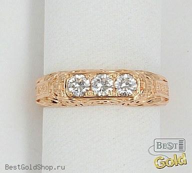 золотое кольцо спаси и сохрани женское 8945