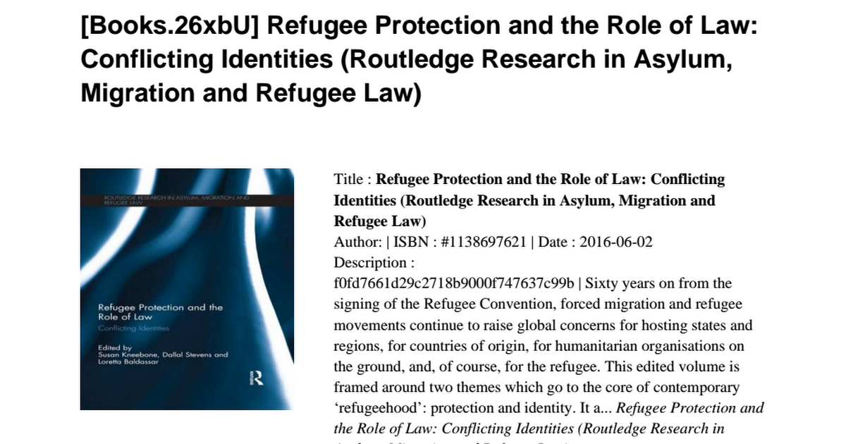 analysis of refugee protection mechanisms Refugee protection in africa: how to ensure security and development for refugees and hosts  mechanisms should be in place whereby host states may request and.