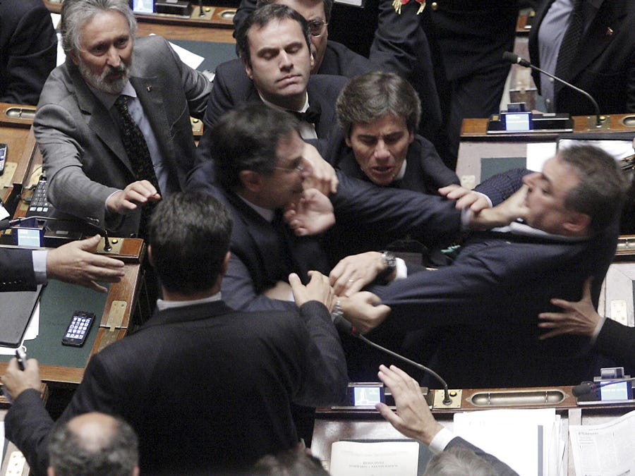 Photos of politicians fighting - Business Insider