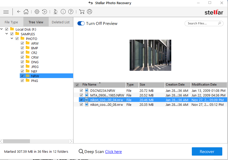 Stellar Photo Recovery- Preview your recover photos