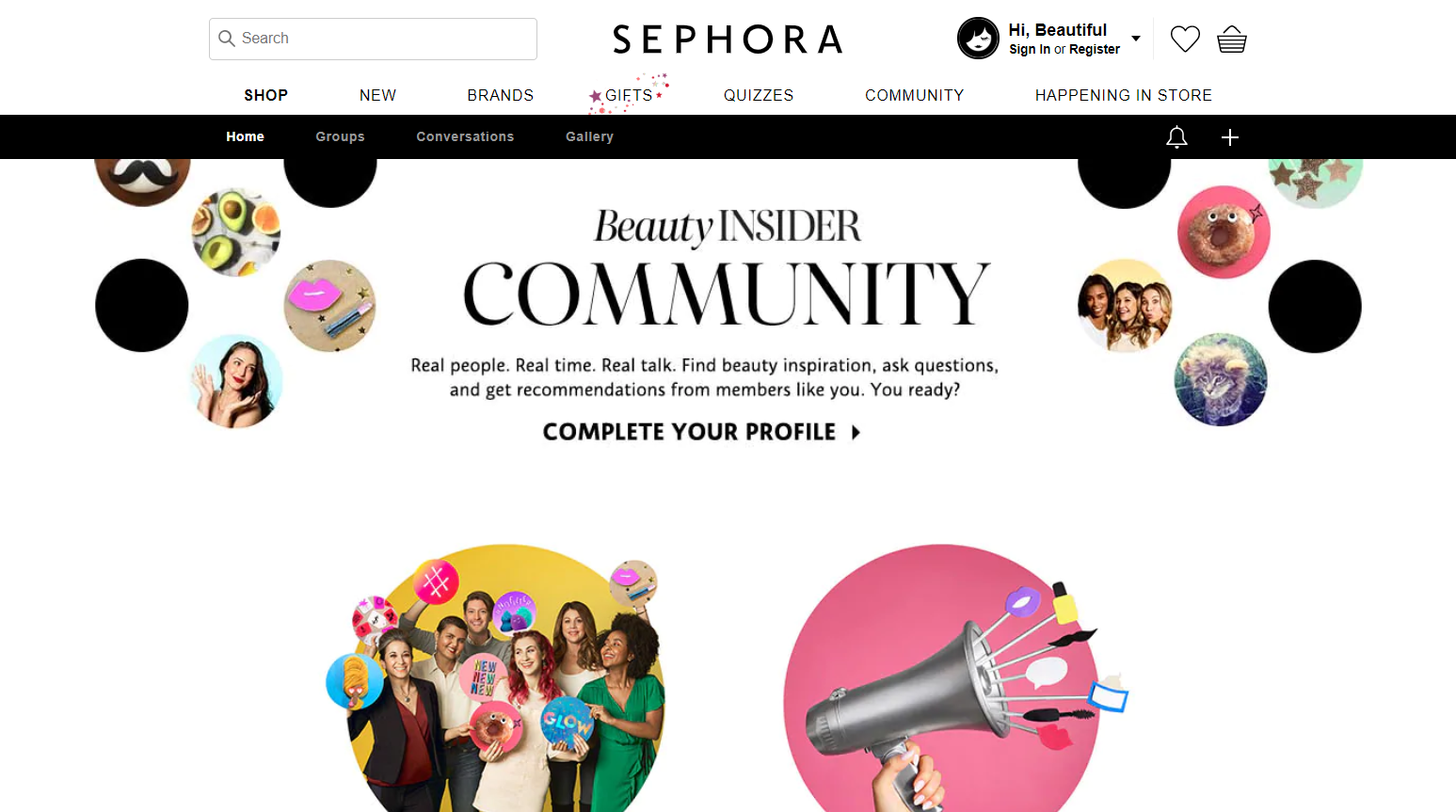 Example of ecommerce marketing strategy, online community