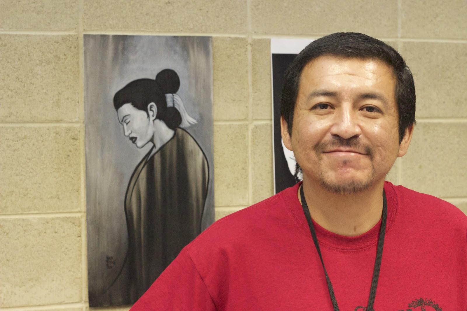 Navajo artist Shaun Beyale empowering women. Photo: Jason Asenap