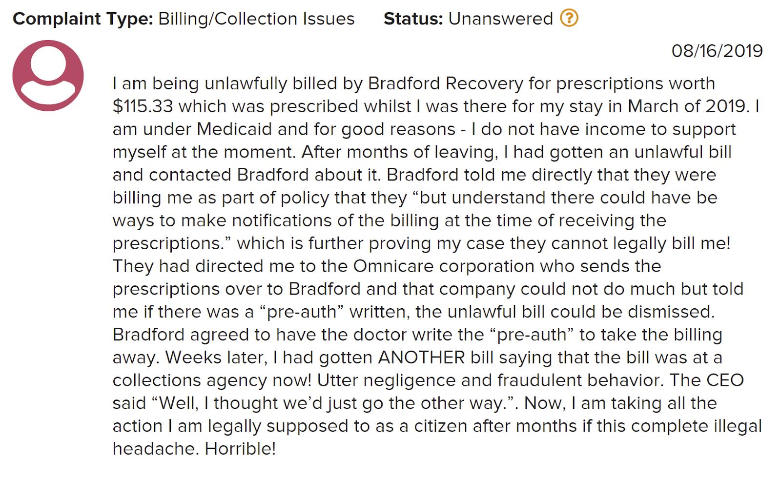 Bradford Recovery Center Review