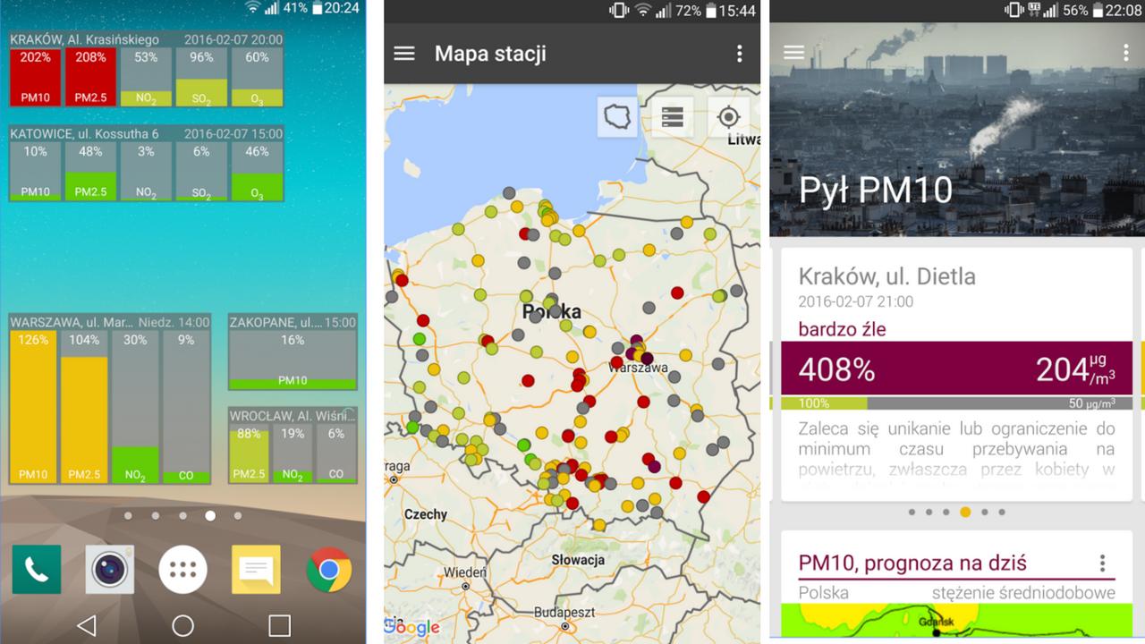 Aplikacja Zanieczyszczenie Powietrza