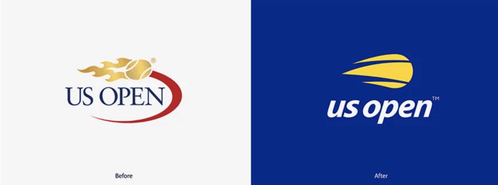 US Open logo rebrand