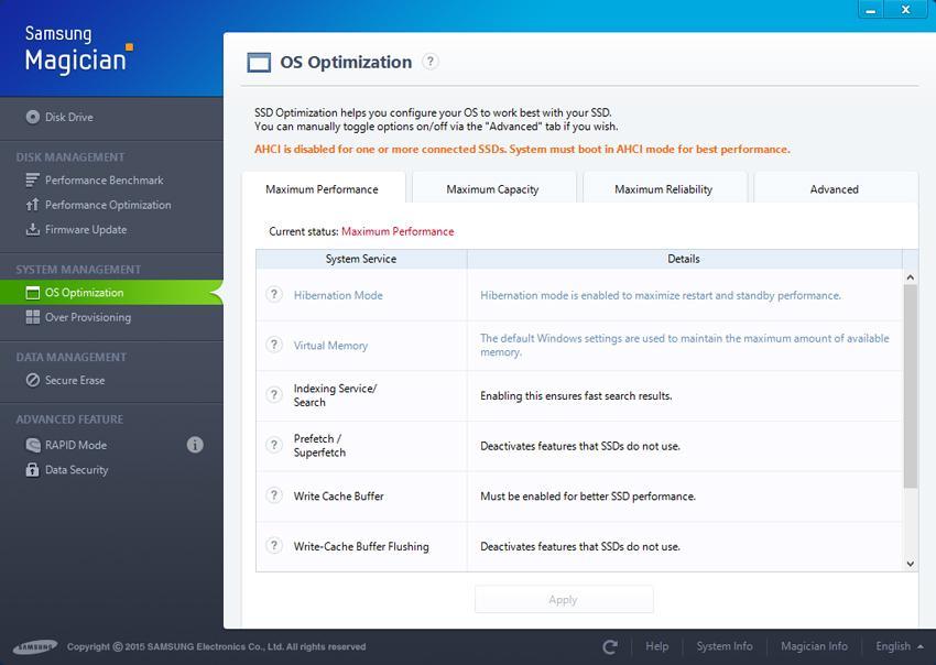 Tăng hiệu suất ổ đĩa với OS Optimization