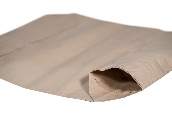Brown industrial paper bag