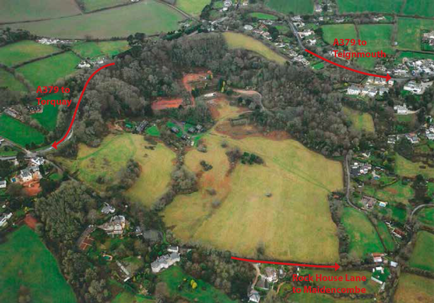 Proposed site of care village at Sladnor Park, near Torquay