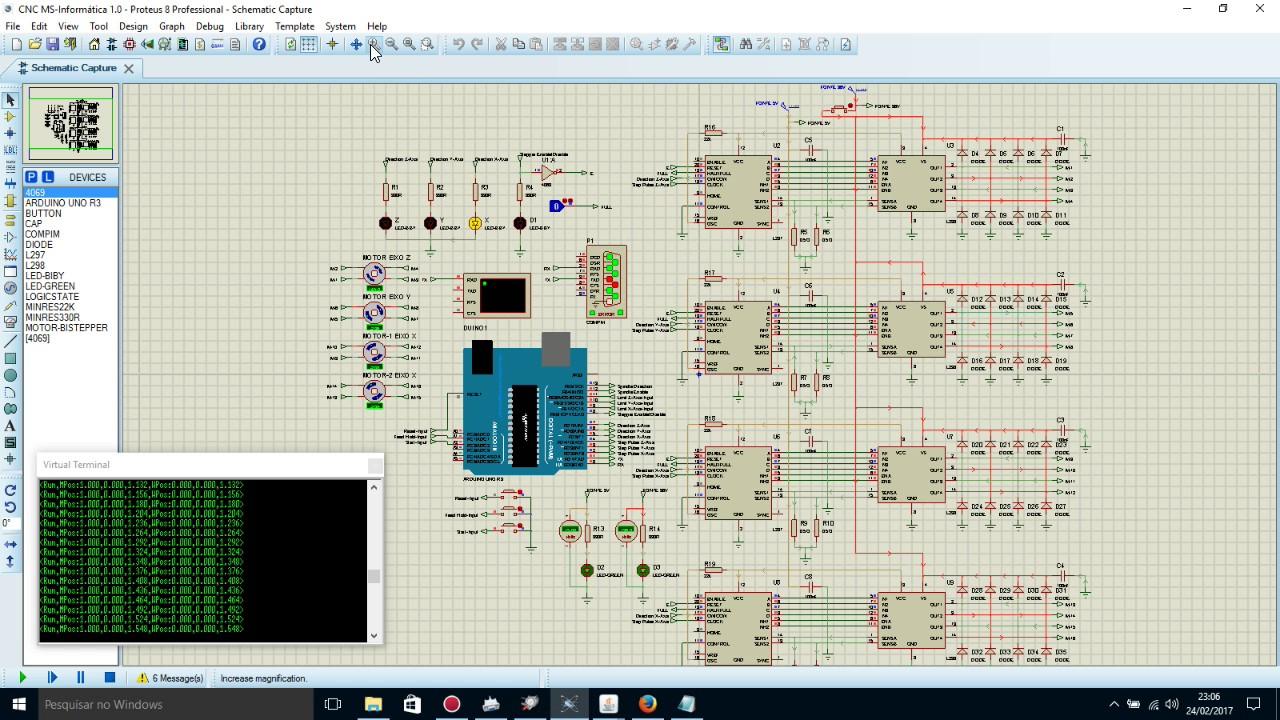 Giao diện của phần mềm Proteus 8.5 - Cửa hàng linh kiện điện tử Vietnic