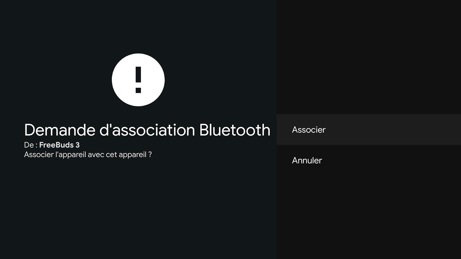 Associer un appareil bluetooth sur Google TV