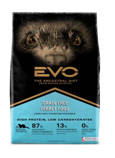Label, EVO Ferret Food