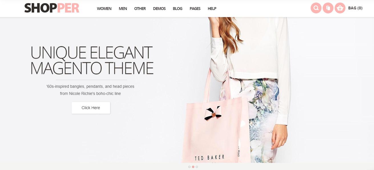 Shopper - Magento fashion theme