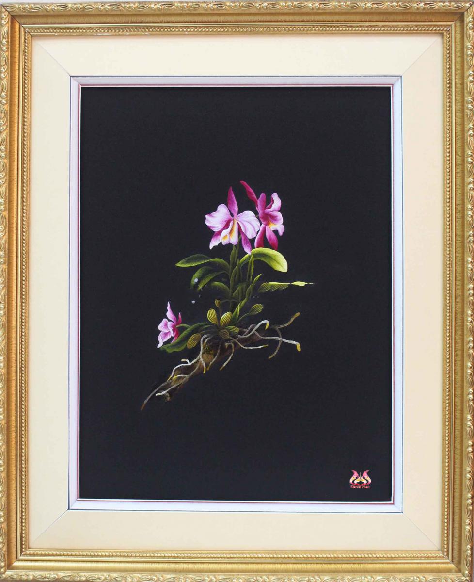 Tranh thêu hoa lan và ý nghĩa đặc biệt trong phong thủy 9