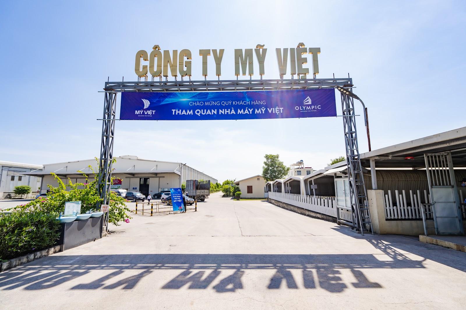 Nhà máy Mỹ Việt - nơi sản xuất ra tôn lợp mái Olympic chất lượng cao