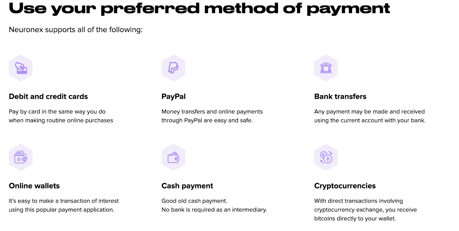 Payment Solutions on NeuronEx