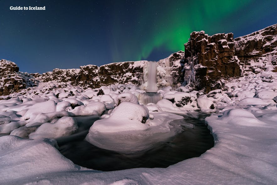 Travelers can spot the Northern Lights in Iceland during winter time