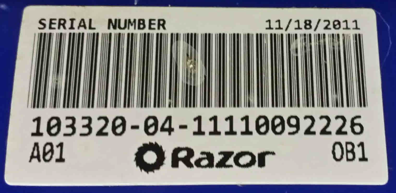 Ekit 4 Razor Scooter E100e175 E Spark E100 Glow Trikke E2 Electric Wiring Diagram Using Ebay Message Please Send The Barcode Photo Of Product Being Serviced This Is On And Not Control Module