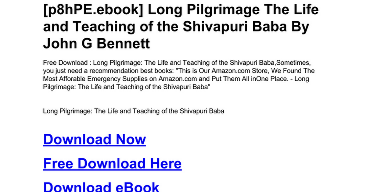 long-pilgrimage-the-life-and-teaching-of-the-shivapuri-baba