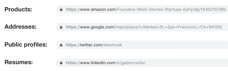 Canonical URLs for sharing via messaging