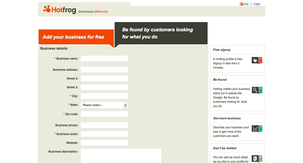 hotfrog business information