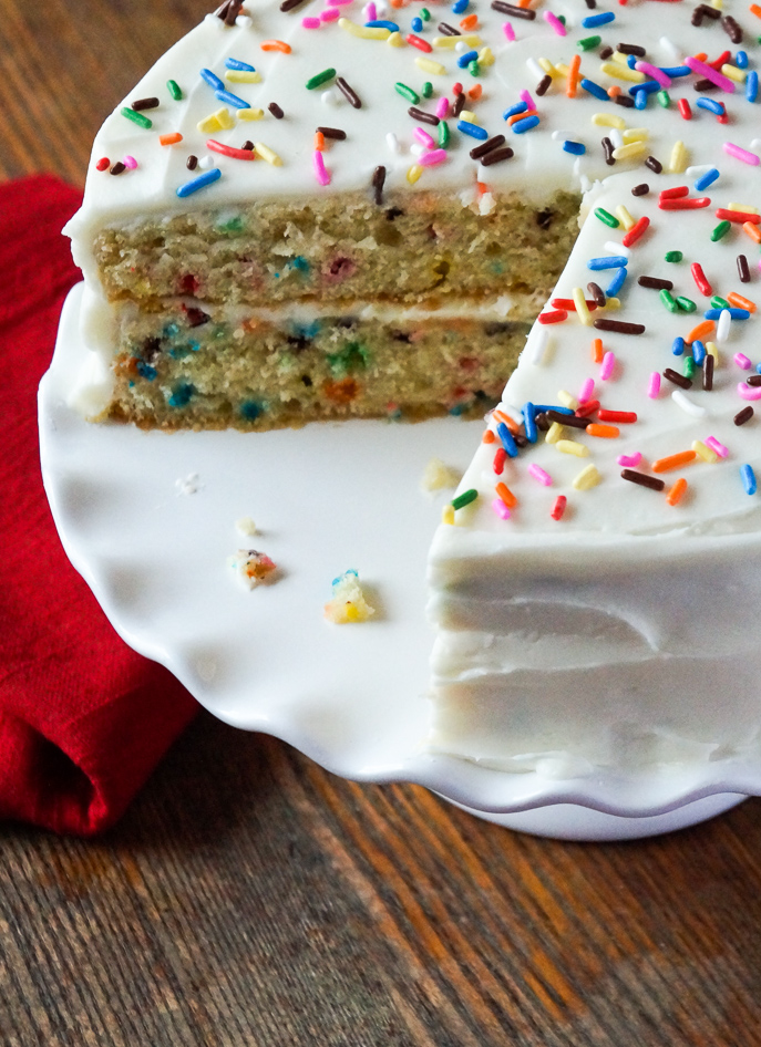 Buttermilk Confetti Cake from Everyday Good Thinking, the official blog of @HamiltonBeach - everydaygoodthinking.com