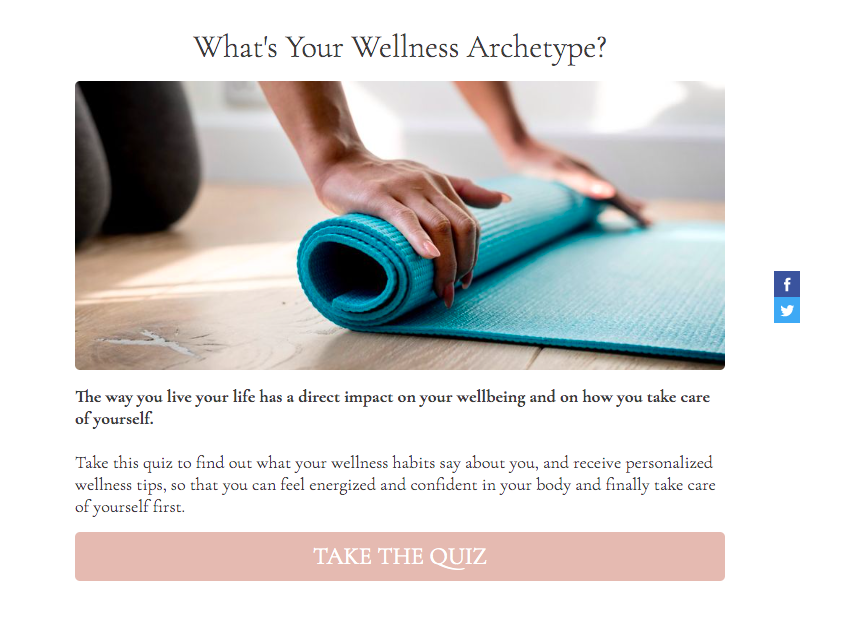 What is your wellness archetype fitness quiz cover page
