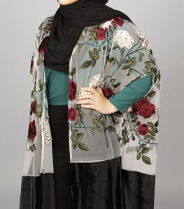 floral blossom cape abaya