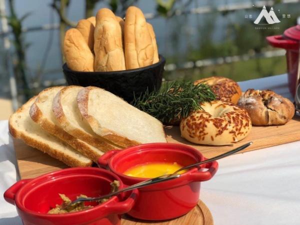 南投露營-山思雲想早餐-烤麵包