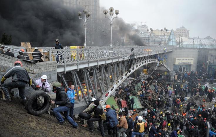 Активисты Майдана в центре Киева © svoboda.org