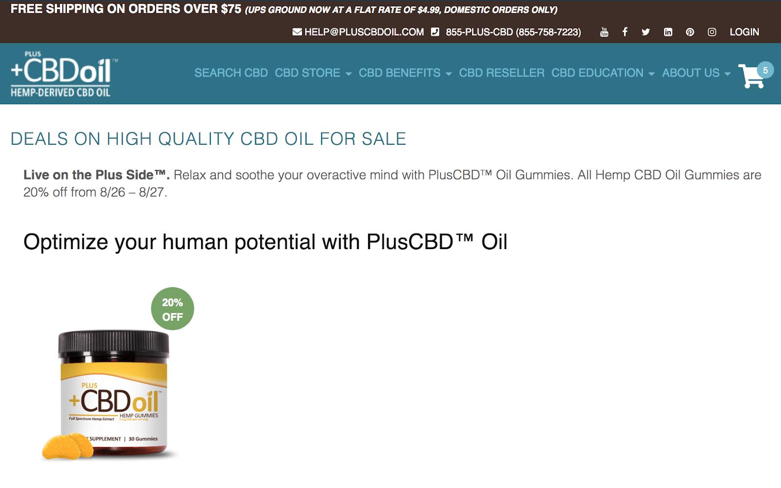 pluscbd oil deals page