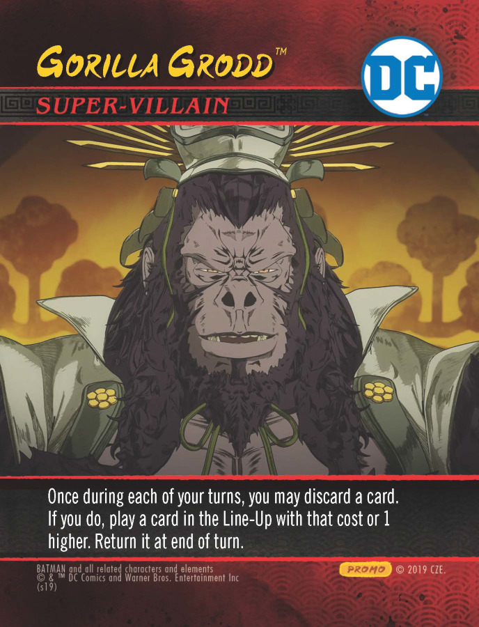 DC Deck-Building Game Crossover Pack 8: Batman Ninja - Gorilla Grodd Promo Card