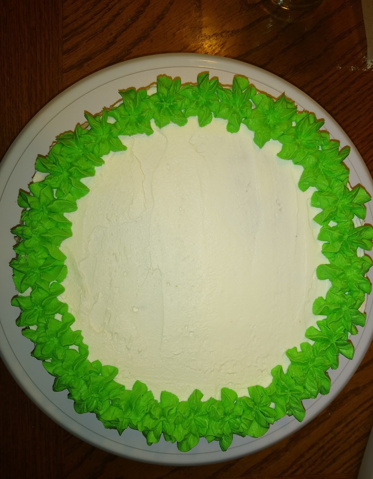 Christmas cheesecake tutorial picture