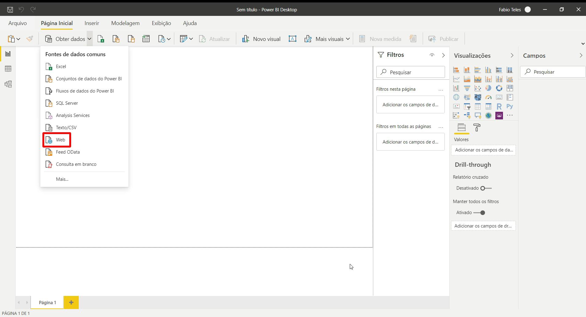 Web   Power BI e Desk Manager